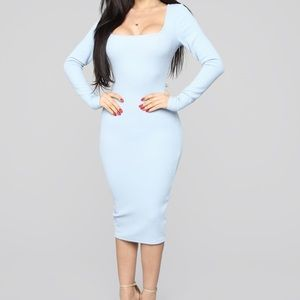 BNWT Fashion Nova Happy Daze ribbed midi dress